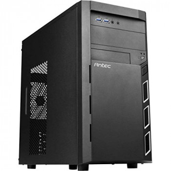Antec VSK3000 Elite Micro ATX Case No PSU 12cm Fan USB 3.0 Black