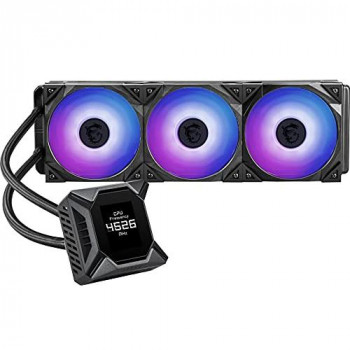 MSI MPG CORELIQUID K360 CPU AIO Cooler '360mm Radiator, 2.4'' LCD Waterblock with built-in TORX 3.0 fan, 3x 120mm TORX 4.0 ARGB PWM Fan, MSI Center Supported, Compatible with Intel and AMD Platforms'
