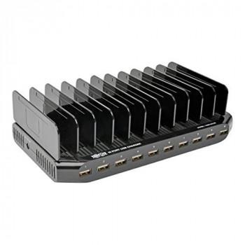Tripp Lite 10-Port USB Charging Station with Adjustable Storage 12V 8A 96W (Black)