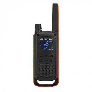Motorola Talkabout T82 PMR446 2-Way Walkie Talkie Radio Twin Pack - Orange / Black