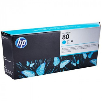 HP Original C4821A  Print Head + Cleaner No 80 Cyan