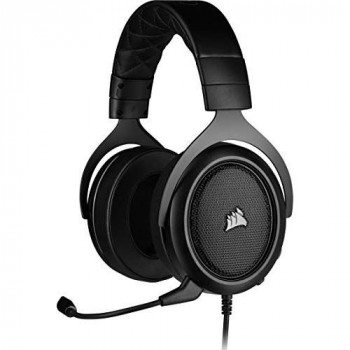 Corsair HS50 PRO Stereo Gaming Headset (Adjustable Memory Foam Ear Cups, Lightweight, Noise-Cancelling Detachable Microphone with PC, PS4, Xbox One, Switch and Mobile Compatibility) - Black