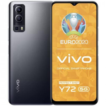 "vivo Y72 5G, Graphite Black, 8+128GB, 6.58"" FHD + Incell Screen, Side Fingerprint, 64MP Multi Scenario Camera, 5000mAh Battery with 18W Fast Charge, Sim Free Smartphone, Dual Sim + 2 Year Warranty"