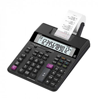 Casio HR-200RCE-W-EC HR-200RCE Printing Desktop Calculator Black :: (Office & Stationery > Calculators)