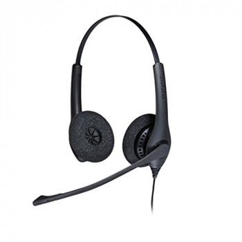 Jabra BIZ 1500 Duo USB USB Binaural Head-band Black headset - headsets (Call center/Office, Binaural, Head-band, Black, CE, FCC, UL, cUL, EAC, RCM, KCC, RoHS, REACH, Wired)