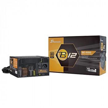 Seasonic B12 850W 80 PLUS Bronze Wired PSU, Single Rail, 70A +12V, Black, ATX PSU