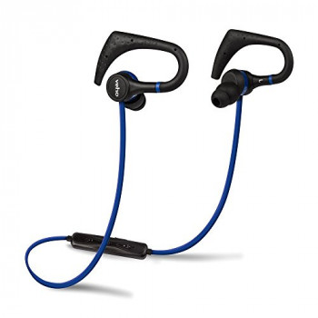 Veho ZB-1 In-Ear Sports Wireless Bluetooth Headphones | Sports Hook | Microphone | Remote Control | Flex Anti-Tangle Cable – Blue (VEP-007-ZB1)