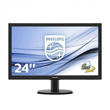 "Philips V-line 243V5LHSB 59.9 cm (23.6"") LED Monitor - 16:9 - 1 ms"