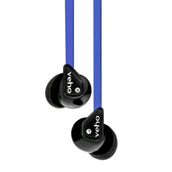 Veho Z-1 In-Ear Headphones | Anti Tangle Cable | Stereo Noise Isolating | Earbuds | Earphones - Blue (VEP-003-360Z1-N)