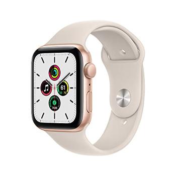 2021 Apple Watch SE (GPS, 44mm) - Gold Aluminium Case with Starlight Sport Band - Regular
