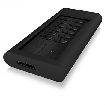 Icybox 60086 USB 3.0 Keypad Encrypted Enclosure for M.2 SATA Solid State Drive