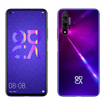 "Huawei Nova 5T 128GB 6.26"" LCD Display Smartphone with 48 MP Camera, 6GB RAM, SIM-Free Android 9.0, EMUI 9.1, Single Sim, (Midsummer Purple) UK Version"
