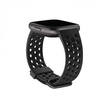 Fitbit Versa 2 Sports Band Accessory, Black, Large