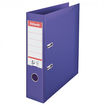 Esselte No. 1 Power Lever Arch File A4 75 mm Violet - Pack of 10