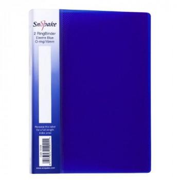 Snopake Electra Ring Binder Polypropylene 2 O-Ring 15mm Size A5 Blue Ref 10109 Pack of 10
