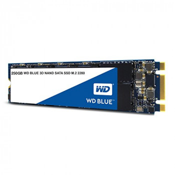 Western Digital WDS250G2B0B WD Blue 250 GB 3D NAND SATA Internal Solid State Drive - Black