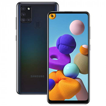Samsung Galaxy A21s Android Smartphone, SIM Free Mobile Phone, Black
