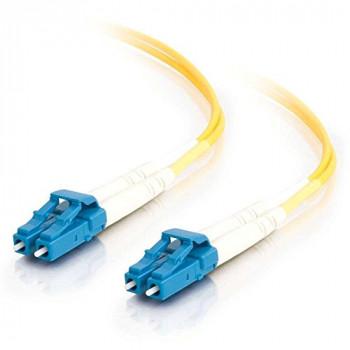 C2G 2m LC-LC 9/125 OS1 Duplex Singlemode PVC Fibre Optic Cable (LSZH) - Yellow