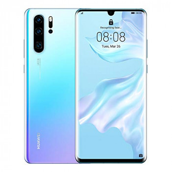 Huawei P30 Pro 8 GB RAM + 128 GB, Stunning 6.47 Inch OLED Display, Android.TM 9.0 Pie, EMUI 9.1.0 Sim-Free Smartphone, Dual SIM, Breathing Crystal, UK Version