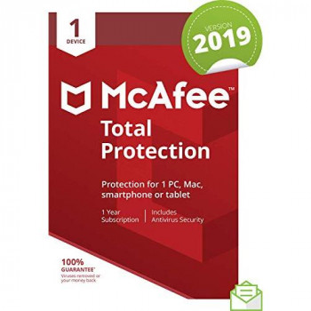 McAfee 2019 Total Protection |1 Device | PC/Mac/Android/Smartphones | Activation Code By Post