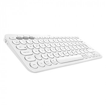 Logitech K380 Multi-Device Bluetooth Wireless Keyboard with Easy-Switch for up to 3 Devices, Slim, 2 Year Battery – PC, Laptop, Windows, Mac, Chrome OS, Android, iPad OS, Apple TV - Off White