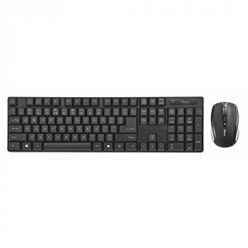 Trust 21571 Ximo Wireless keyboard and mouse set for PC and Laptop, UK Layout, Black
