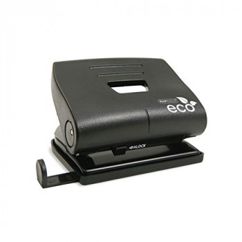 Rapesco Eco 2 Hole Punch 100% Recycled Material, 20 sheet Capacity - Black