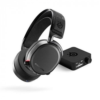 SteelSeries Arctis Pro Wired/Wireless Bluetooth 40 mm Stereo Headset - Over-the-head - Circumaural - Black - 12 m - 32 Ohm - 10 Hz - 40 kHz - USB  Mini-phone