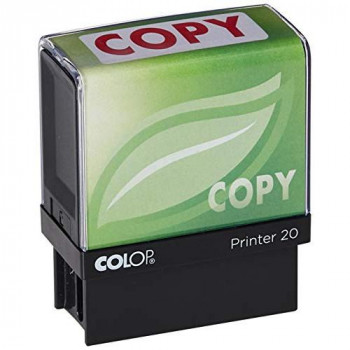 COLOP Printer 20 Copy Green Line Stamp - Red Ink
