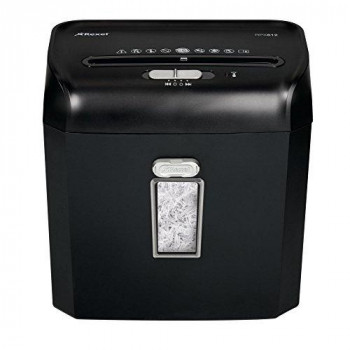 Rexel Promax RPX612 2101843A 6 Sheet Manual Cross Cut Shredder for Personal or Executive Use (Up to 2 Users), 12 Litre Bin, Extended Run Time, Black