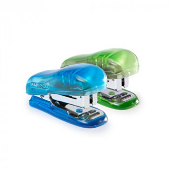 Rapesco Bug Mini Stapler with 12 Sheet Capacity - Blue/Green
