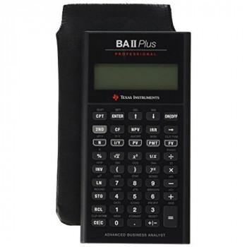 Texas FBA_IIBAPRO/CLM/1L1/D BA II Plus Pro Financial Calculator - Black