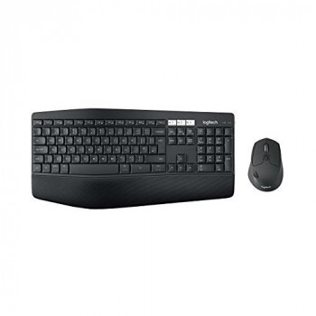 Logitech MK850 Wireless Keyboard and Mouse Combo (USB, Bluetooth, QWERTY UK Layout) - Dark Grey