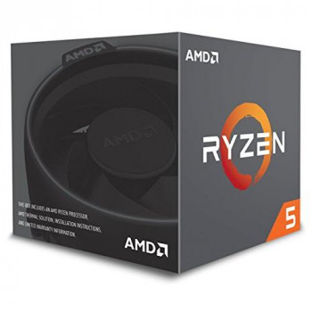 AMD Ryzen 5 2600 CPU with Wraith Cooler AM4 3.4GHz (3.9 Turbo) 6-Core 65W 19MB Cache 12nm No Graphics