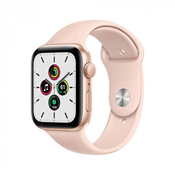 Apple Watch SE GPS, 44mm Gold Aluminium Case with Pink Sand Sport Band - Regular