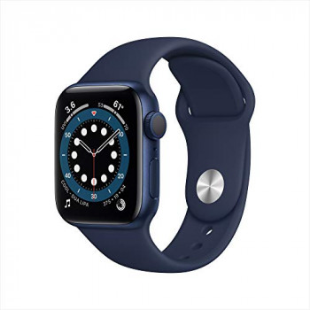 Apple Watch Series 6 GPS, 40mm Blue Aluminium Case with Deep Navy Sport Band - Regular