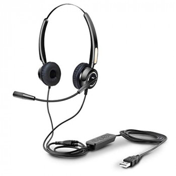 Urban Factory MOVEE USB Conference Headset with Microphone and Remote Control - Black