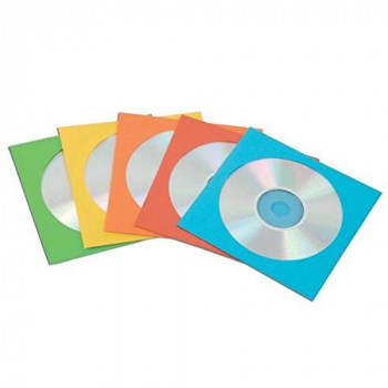 Fellowes 9068901 CD/DVD Mailer (pack of 50) Assorted Colours