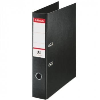 Esselte 48087 Lever Arch File PVC Slotted 70 mm Spine Foolscap - Black, Pack 10