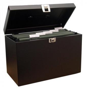 Metal home file foolscap (black)