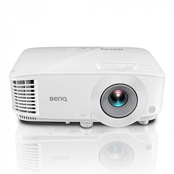 BenQ MH606 1080p Full HD High Brightness 3500 ANSI Lumen Projector with Wireless Presentation Capability for Home and Office Meeting Rooms, White