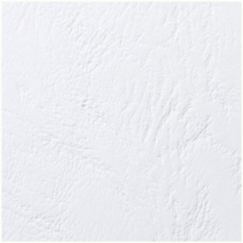 GBC LeatherGrain Leather Grain Cover Plates, Size A4 (250g / m2, White, Pack of 100)