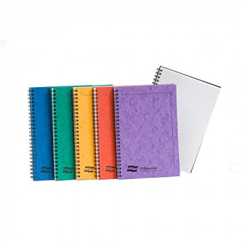 Europa Notemaker Book Sidebound Ruled 80gsm 120 Pages A5 Assorted A - Ref 4850 (Pack 10)