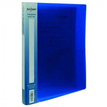 Snopake Electra Ring Binder Polypropylene 2 O-Ring 15mm Size A4 Blue Ref 10120 [Pack of 10]