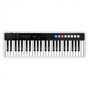 Multimedia iRig Keys I/O 49 Universal Mobile Keyboard with Lightning Connector,Black/White