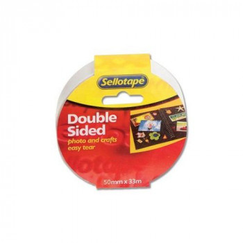 Sellotape Double-sided 50mm x 33m Ref 1447054 [Pack 3]