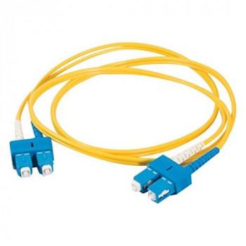 C2G 3m SC-SC 9/125 OS1 Duplex Singlemode PVC Fibre Optic Cable (LSZH) - Yellow