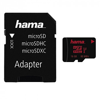 Hama MicroSDHC 16GB UHS Speed Class 3 UHS-I 80MB/s + Adapter/Photo