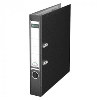 Leitz 180 Degree Plastic A4 Lever Arch File with 50 mm Spine - Black, Pack of 10