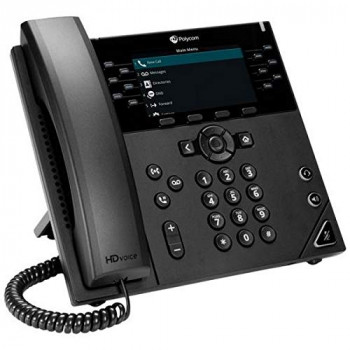 POLYCOM Vvx 450 12-Line Desktop Business Ip Phone With Dual 10 / 100 / 1000 Ethernet Ports. Poe Only. Ships Without Power Supply. 3 Year Par